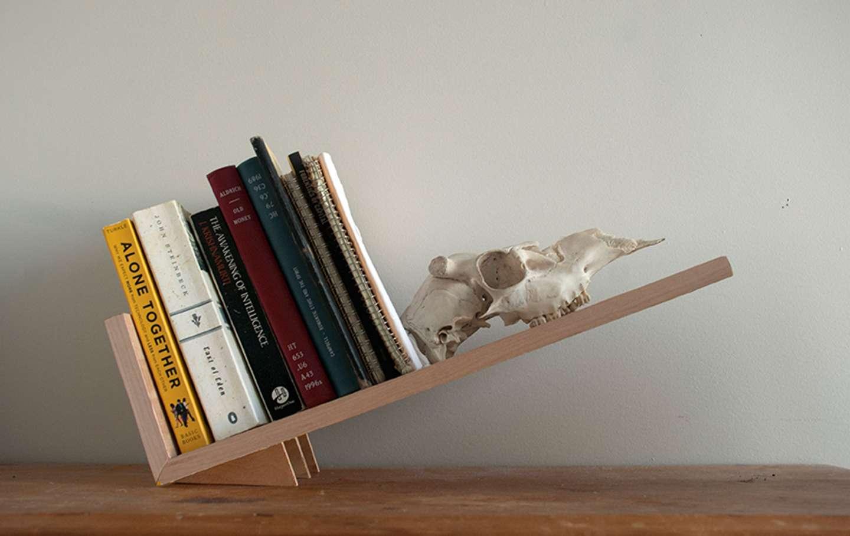 Tilted Bookshelf By Hannah Palant SVA Design