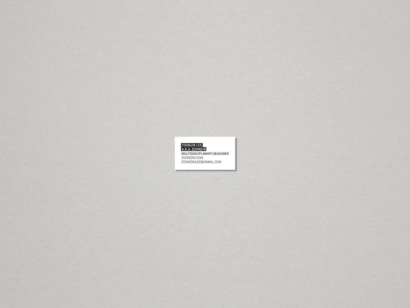 Tiny business card by yoonjin lee sva design tiny business card colourmoves