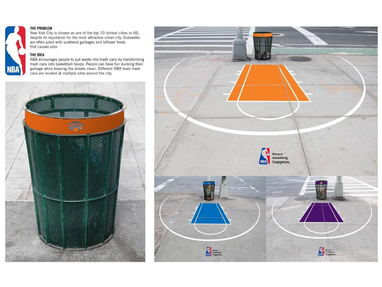 Wonderful NBA Trash Can Ad by Yoon Ha Chung – SVA Design ZJ37
