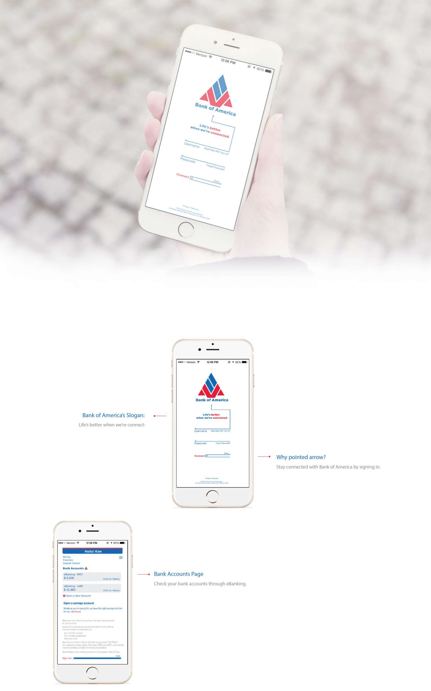Bank of America Mobile App Redesign by Heera Kim – SVA Design