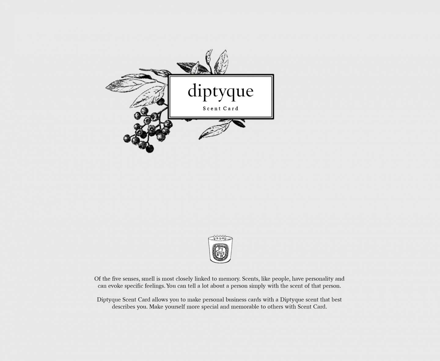 Diptyque scent card by yu ji yang dayoung hwang sva design diptyque scent card allows you to make personal business cards with a diptyque scent that best describes you magicingreecefo Image collections
