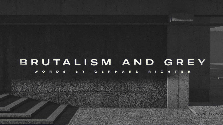 Brutalism and Grey by Weixi Zeng – SVA Design