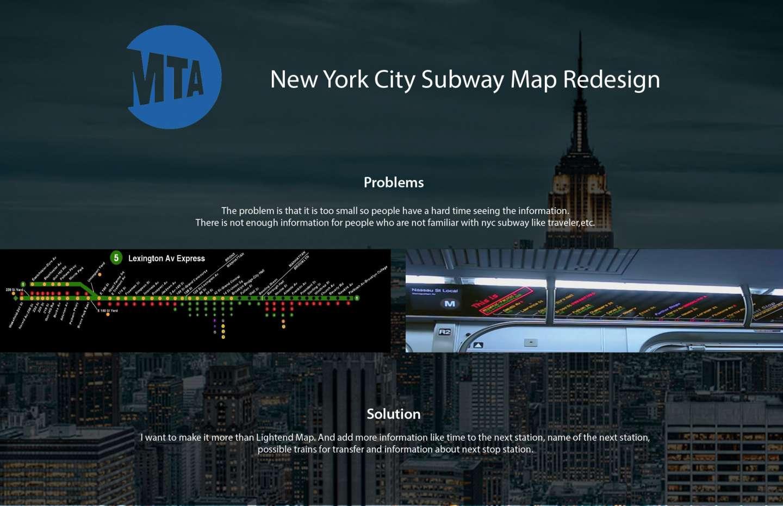 Small Nyc Subway Map.Nyc Subway Map Redesign By Ji Hyun Chun Sva Design