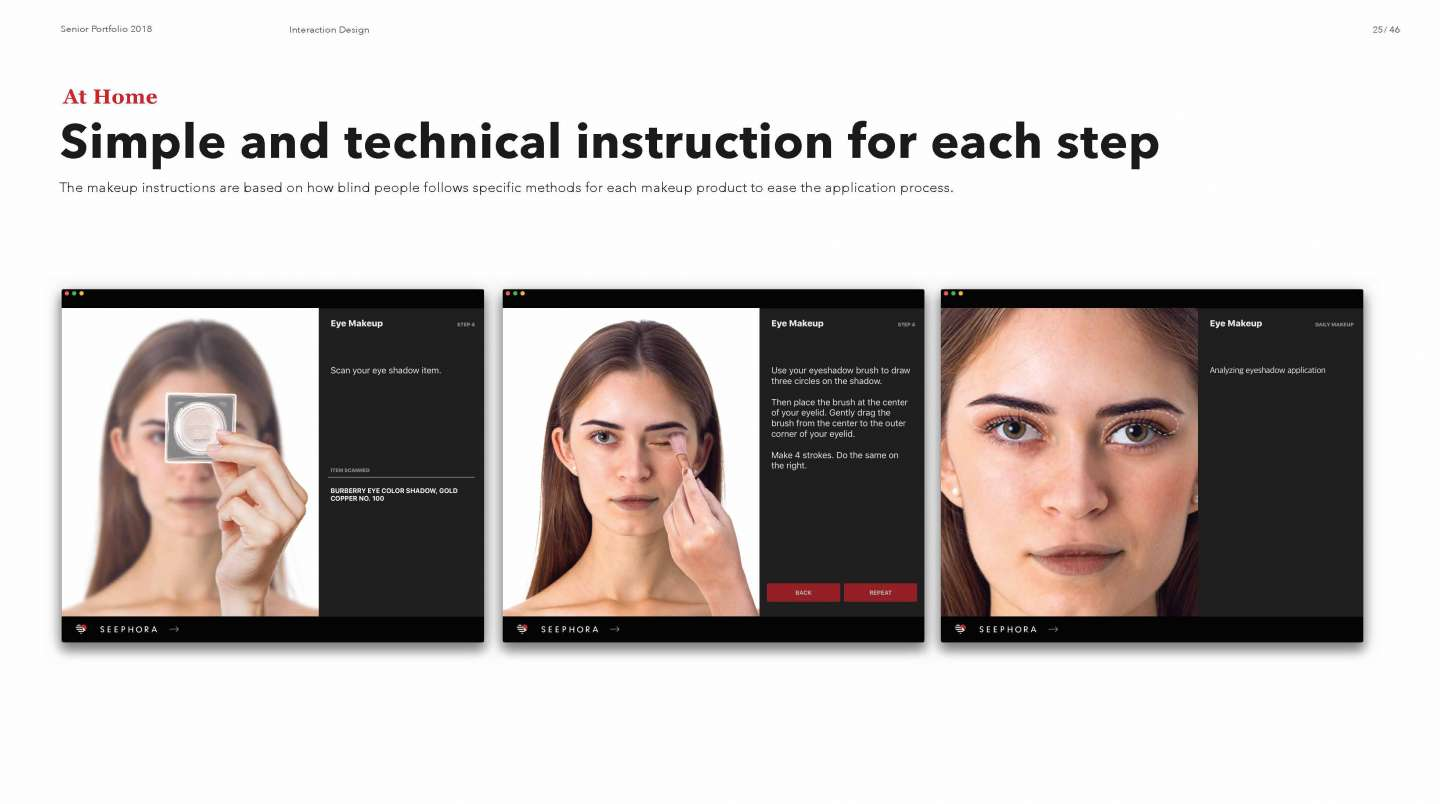 Seephora By Soo Yeon Lee Sva Design Eyeshadow Application Diagram It Is A Specialized Beauty Service Designed For Blind Women To Receive Personal Assistance In Applying Makeup And
